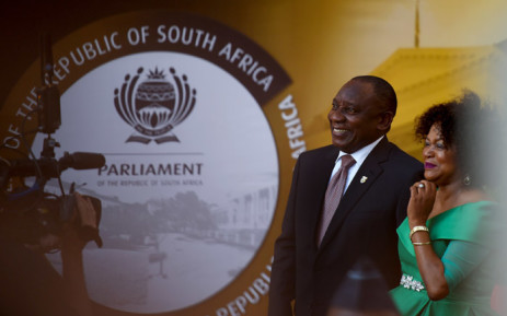President Cyril Ramaphosa and National Assembly Speaker Baleka Mbete as they make their way to the State of The Nation Address in Parliament on 7 February. Picture: GCIS
