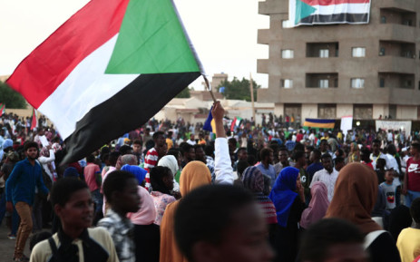 FILE: Sudanese demonstrators march during a protest in Bahri, the capital Khartoum's northern district, on 21 October 2019. Picture: AFP
