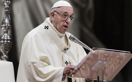 FILE: Pope Francis gives mass. Picture: AFP.