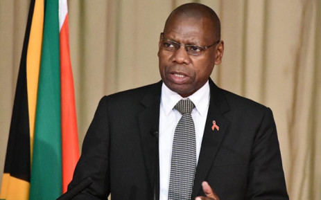 Health Minister Zweli Mkhize addresses a media briefing on 13 July 2020. Picture: @DrZweliMkhize/Twitter