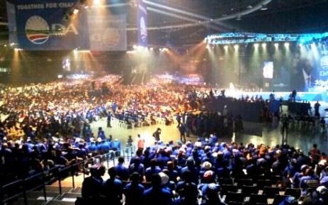 The Coca-Cola dome in Northgate, Johannesburg, is filled with thousands of Democratic Alliance supporters at the party's final election rally, 3 May 2014. Picture: Democratic Alliance/Facebook.