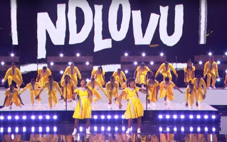 A screengrab of the Ndlovu Youth Choir performing in the grand finale of 'America's Got Talent' on 17 September 2019.