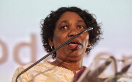 Basic Education Minister Angie Motshekga addresses the country's top matriculants at a breakfast at Vodaworld in Midrand on 7 January 2020. Picture: Kayleen Morgan/EWN