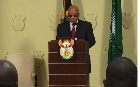 President addressing the nation after meeting with vice chancellors, chairs of councils and student representatives. Picture:EWN.
