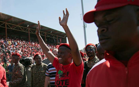 EFF leader Julius Malema arriving at the Sankopano Alexandra Stadium for his Workers' Day address on 1 May 2019. Picture: Sethembiso Zulu/EWN