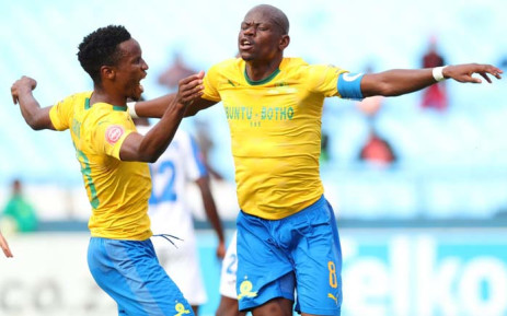 Sundowns are now two points ahead of Orlando Pirates going into the final round of PSL matches this weekend. Picture: Twitter/@Masandawana