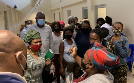 FILE: Frustated Gugulethu residents who waited for a full day at the Sassa office and were not assisted, rallied together and confronted Sassa CEO Busisiwe Memela about the problems they were encountering at the office. Picture: Kaylynn Palm/Eyewitness News.