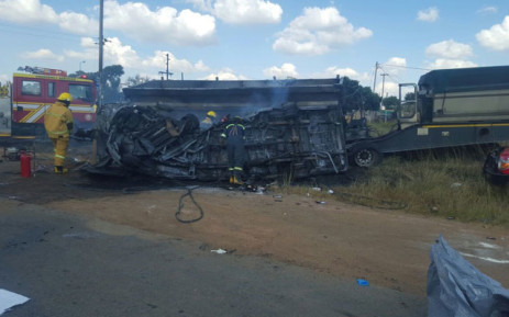 The Bronkhorstspruit crash scene. Picture: Supplied.