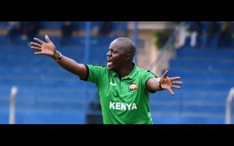 Kenyan national women's soccer coach David Ouma. Picture: @CAF_Online/Twitter.