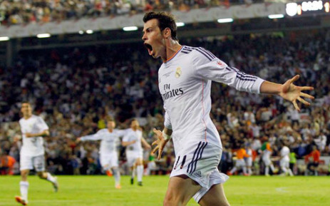 Real Madrid winger Gareth Bale celebrates his goal against Barcelona during the King's Cup final on 16 April 2014. Picture: Facebook.com.