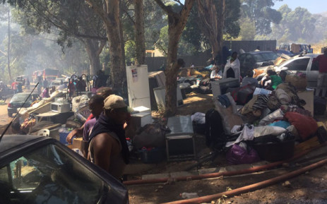 The aftermath of a fire in Imizamo Yethu near Hout Bay. Picture: Monique Mortlock/EWN.