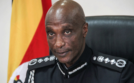 FILE: A picture taken on February 20, 2018, shows Kale Kayihura at the Police Headquarters in Kampala, Uganda. Picture: AFP