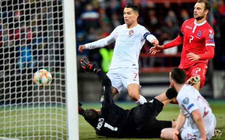 Portugal's Cristiano Ronaldo scores during the Euro 2020 qualifier against Luxembourg on 17 November 2019. Picture: @UEFAEURO/Twitter