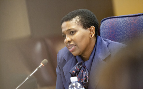 Advocate Nomgcobo Jiba at the Mokgoro inquiry on 21 February. Picture: Kayleen Morgan/EWN.