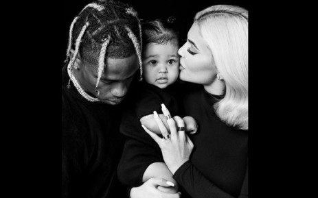 Travis Scott and Kylie Jenner pictured with their daughter Stormi. Picture: @kyliejenner/instagram.com