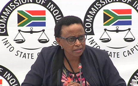 A YouTube screen grab of former Transnet group chief information officer Makano Mosidi testifying at the state capture commission of inquiry on 10 June 2018. Picture: SABCDigitalNews/Youtube