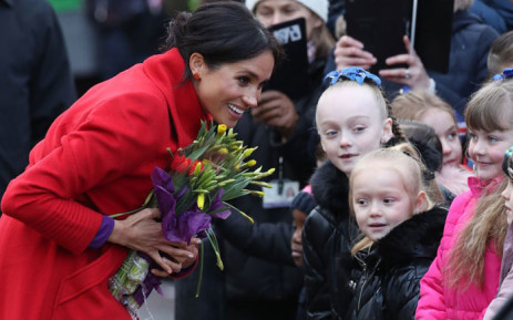 Today The Duke (not pictured) and Duchess of Sussex visited Birkenhead to meet local organisations that support and empower groups within the community on 14 January 2019. Picture: @RoyalFamily/Twitter