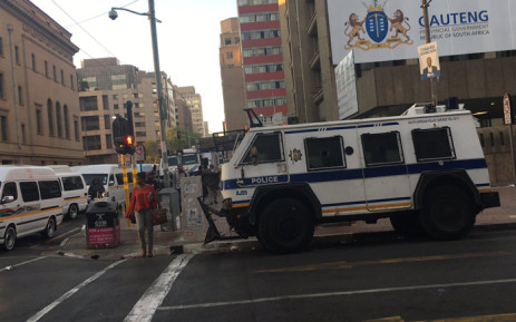 Security has been tightened outside and around Luthuli House ahead of Occupy Luthuli House demoNstration on 5 September 2016. Picture: Clement Manyathela/EWN