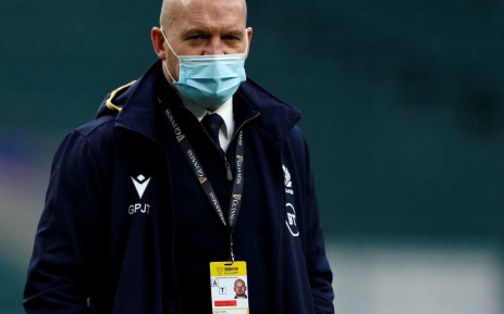 Scotland head coach Gregor Townsend arrives for the Six Nations rugby union match between England and Scotland at Twickenham Stadium in southwest London on 6 February, 2021. Picture: Adrian Dennis/AFP