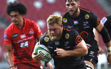 FILE: The Sharks' Akker van der Merwe (C) runs with the ball during the Super Rugby match against the Sunwolves in Singapore on 16 February 2019. Picture: AFP