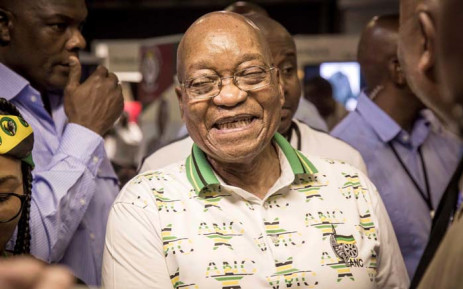 President Jacob Zuma conducts a walkabout at the ANC national conference on Monday 18 December 2017. Picture: Thomas Holder/EWN
