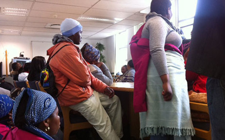 FILE: Asylum seekers lodged a complaint against Home Affairs at the Human Rights Commission offices in Cape Town. Picture: EWN