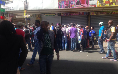 Many South Africans gathered in Johannesburg CBD to show their support to foreign-owned shops folLowing the spate of attacks on foreign nationals on 15 April 2015. Picture: Mia Lindeque/EWN.