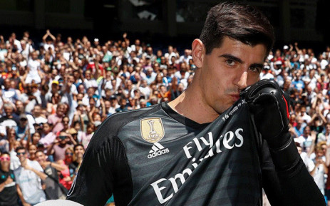 New Real Madrid goalkeeper Thibaut Courtois. Picture  Facebook 6aa99128e