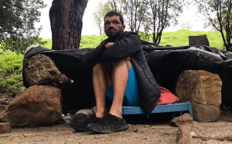 Martin Lodewyk, an ex-prisoner living on the streets, says he's received at least eight fines from the City of Cape Town thus far and says he cannot afford to pay it. Picture: Kaylynn Palm/EWN