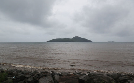 A picture taken on 8 December 2019 shows the sea and the island of Chissioua Mbouzi off Passamainty on the French Indian Ocean island of Mayotte, where Cyclone Belna is expected to make landfall. Picture: AFP