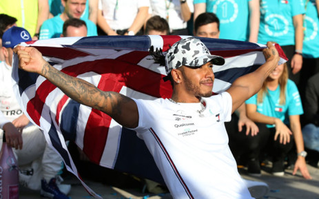 FILE: Lewis Hamilton celebrates his 6th driver's championship after finishing second in the US Formula One Grand Prix in Austin, Texas on 3 November 2019. Picture: AFP