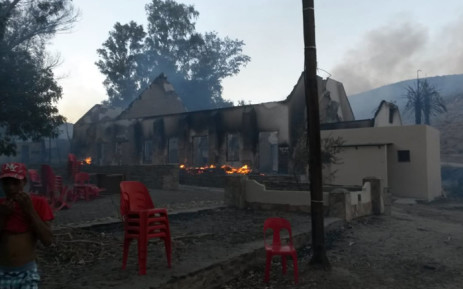 The church was one of the buildings destroyed when a fire ripped through in Wupperthal, Cederberg. Picture: Supplied