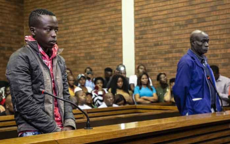 Ernest Mabaso and Fita Khupe appeared in Lenasia Magistrates Court for allegedly killing seven people in Vlakfontein. Picture: Abigail Javier/EWN