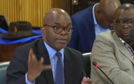 A video screengrab of Eskom CEO Phakamani Hadebe appearing before Parliament's Public Enterprises committee on 21 November 2018.