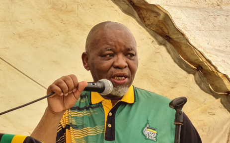 ANC national chairperson Gwede Mantashe attending a Community meeting in Ward 5, Mbobeleni village, OR Tambo Region. Picture: @MYANC/Twitter.