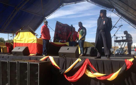 Newly elected NUM general secretary David Sipunzi at the union's report back mass meeting to members in the Free State. Picture: Supplied by NUM.