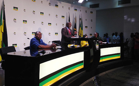 ANC secretary general Gwede Mantashe during a press briefing about the Nkandla report on 20 March 2014. Picture: Sebabatso Mosamo/EWN.