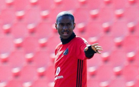 Pirates assistant coach Rulani Mokwena during a training session. Picture: Twitter/@Orlandopirates