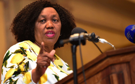 FILE: Basic Education Minister Motshekga addressing the launch the Sanitation Appropriate for Education Initiative at the Sheraton Hotel, Pretoria. Picture: GCIS.