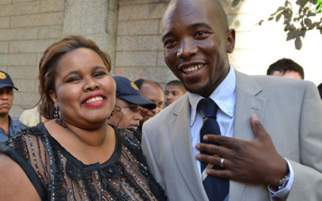 FILE: DA Parliamentary leader Lindiwe Mazibuko and Gauteng premier candidate Mmusi Maimane attend the State of the Nation Address. Picture: Renee de Villiers/EWN.