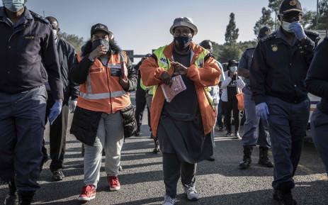 MEC for Community Safety Faith Mazibuko leading Operation O Kae Molao in Pretoria. Picture: Abigail Javier/EWN