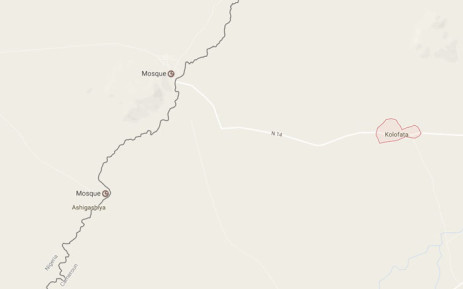 A screengrab from Google Maps showing the town of Kolofata in Cameroon. Picture: Google Maps.