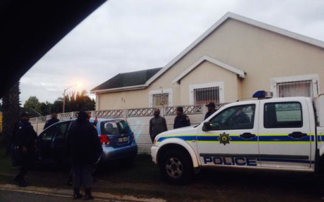 Police searching a vehicle in a crime fighting blitz near Summer Greens, Cape Town, this morning. Picture: Shamiela Fisher/ EWN
