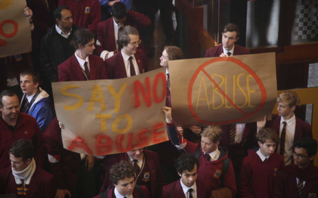 Pupils from Westerford, Wynberg Boys and Rondebosch High schools marching against women and child abuse. Picture: Cindy Archillies/EWN
