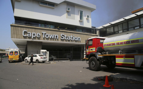 Six carriages at platforms 17 and 18 at Cape Town station were damaged in a fire on 9 October 2018. Picture: Cindy Archillies /EWN