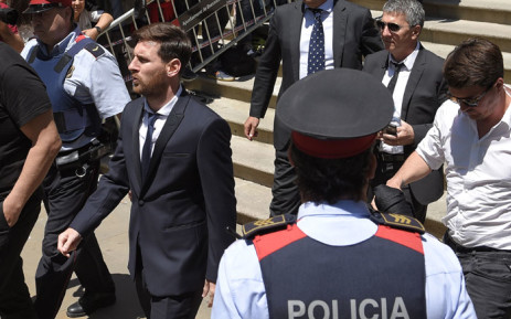 FILE: Football star Lionel Messi leaving the courthouse in Barcelona on 2 June 2016. Picture: AFP.