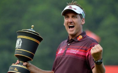 File: Ian Poulter underwent an MRI scan in Leeds after getting hurt in the Scottish Open last week. Picture: AFP.