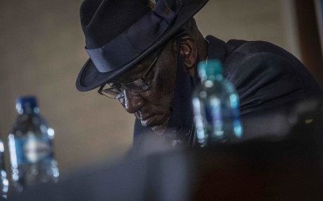 Police Minister Bheki Cele at Mitz Agricultural Union Hall. Picture: Abigail Javier/EWN