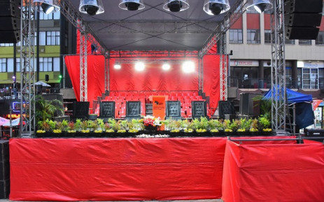 The Economic Freedom Fighters launched its manifesto at Gandhi Square in Johannesburg on 26 September 2021. Picture: @EFFSouthAfrica/Twitter.