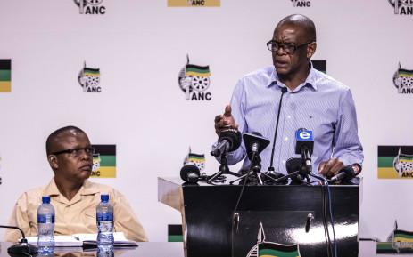 FILE: ANC national spokesperson Dakota Legoete (left) and ANC secretary-general Ace Magashule. Picture: Abigail Javier/EWN